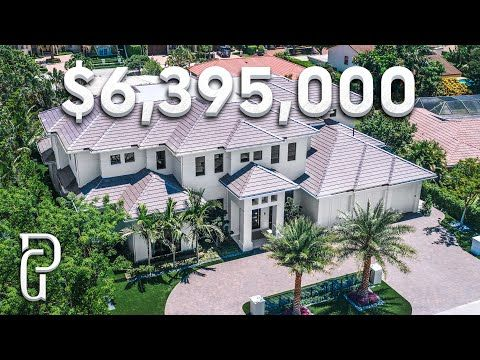 Inside A 6 395 000 Modern Estate In Southern Florida Propertygrams House Tour Youtube In 2020 Mansions Modern Mansion House Tours