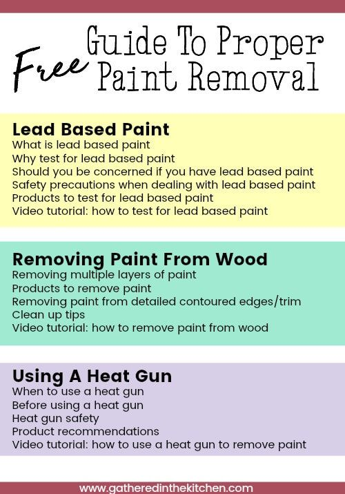 Free Guide To Proper Paint Removal Paint Remover How To Remove Diy Clothes Closet