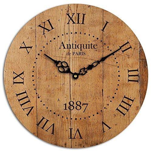 Studio Shubham Paris Roman Numbers Wooden Wall Clock 29cmx29cmx3cm Pwc 40 Clock Wall Clock Wooden Walls