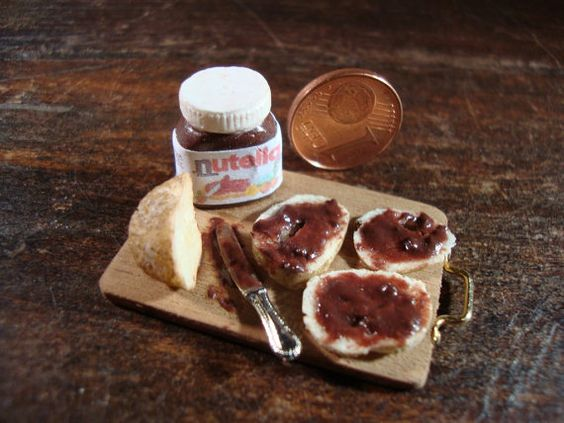 Miniature tasty snack chopping Nutella by bagusitaly on Etsy, €17.00