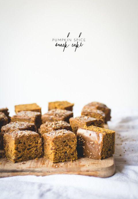 Pumpkin Spice Snack Cake with Maple Glaze | lark & linen