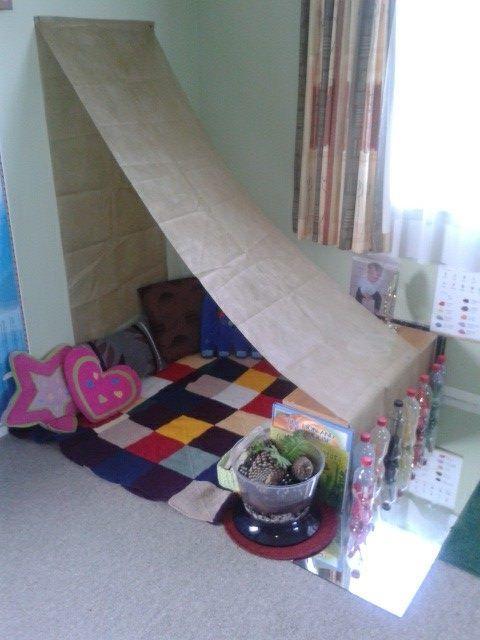 Quiet Classroom Ideas ~ A cosy area at tu tamariki play based learning