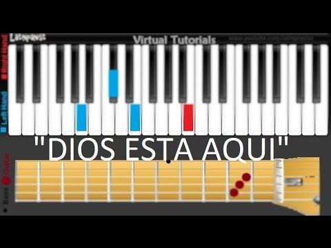 Como Tocar Dios Esta Aqui En Piano Guitarra Y Bajo Tutoriales En Españo Letras De Canciones Cristianas Canciones Fáciles Para Piano Aprender A Tocar El Piano