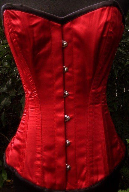 Red corset...love it!
