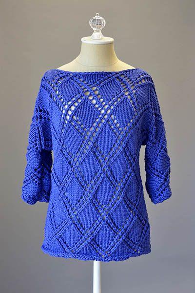 Free Sweater Knitting Patterns Circular Needles : Free pattern, Design and Midnight blue on Pinterest