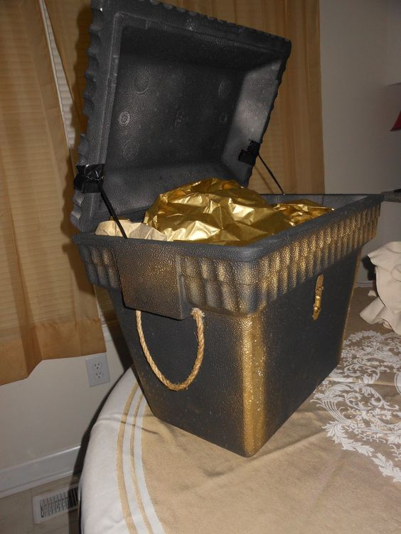 Side view of pirate chest!
