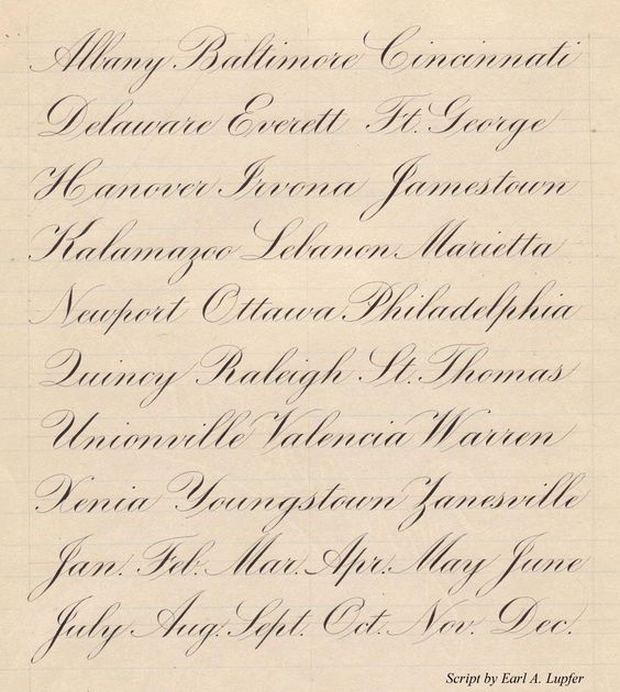 Engrosser 39 S Script E A Lupfer Engrosser Script Writing