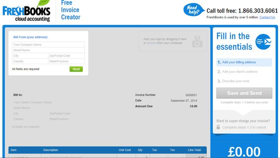 Free online invoice creator from Freshbooks Business \ Money - invoice creator free