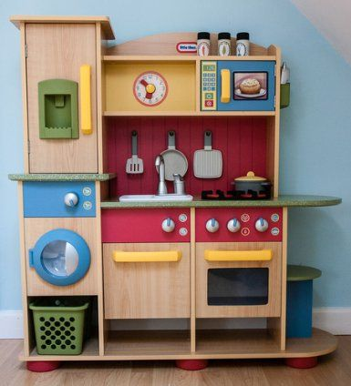 Little Tikes Cookin Creations Premium Wood Kitchen Co Uk Toys 169 99 Nice Though Play Pinterest