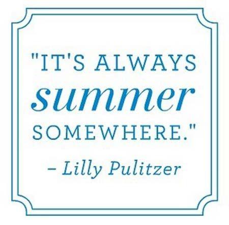 It's always summer somewhere