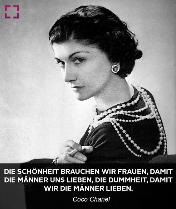 Coco Chanel über Frauen und Männer