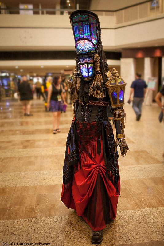 """Abbey - Stained glass costume Beautifully crafted costume with glowing stained glass(-like) details. """"Abbey"""" is the creation of Paige Gardner. ~ by SubversivePhotography / LynxPics"""