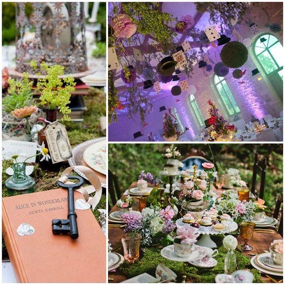 montage decoration salle mariage alice au pays des merveilles