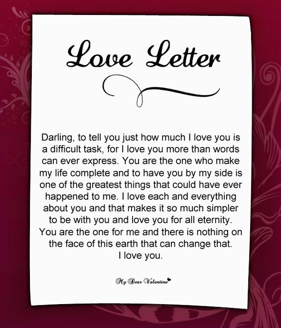 Darling my love for you is more than words can express... | Love ...