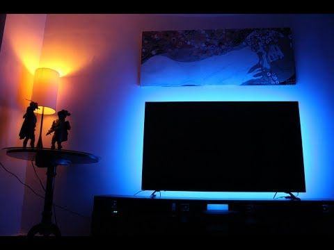 How To Install Led Light Strips Behind Tv Usb Led Strip For Tv Youtube Lights Behind Tv Strip Lighting Led Lights