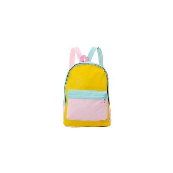 Pretty Pastel Basic Backpack - via Polyvore