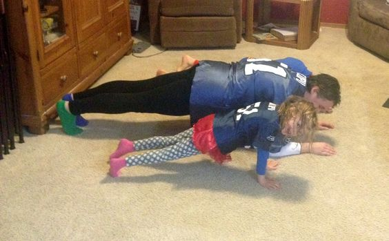 Super Fan Super Bowl workout for the whole family - Join me in supporting your favorite team with these fun touch down exercises.