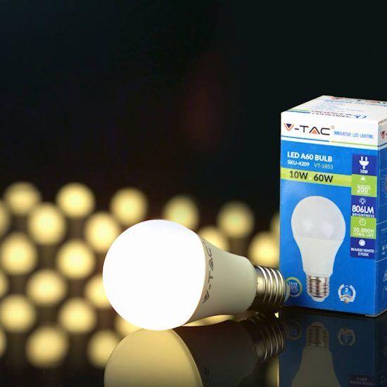 LED žiarovky do pätice E27 od v½robcu V TAC s dobrou svietivosÅ¥ou a