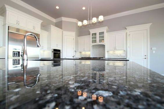 Blue Pearl Granite With Gray Walls Blue Pearl Granite Kitchen Wall Colors Grey Kitchen Walls