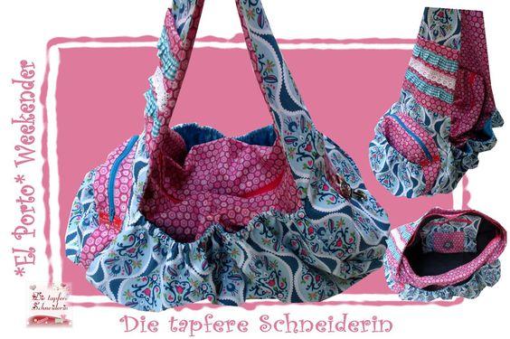 El Porto-Tasche, Sporttasche, Weekender *Gil&Luv* von Die tapfere Schneiderin, handmade with love ... by Viola auf DaWanda.com