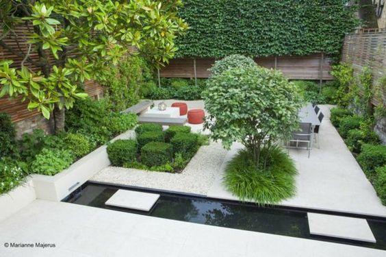 außenarchitektur ideen moderne gartengestaltung steinboden - outdoor patio design ideen