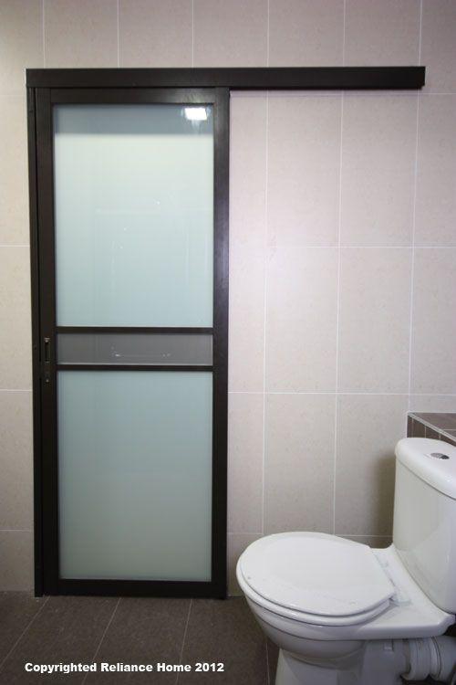 Bathroom Sliding Door A Door That Slide Instead Of Swinging So That It Will Save Room In Sma Sliding Bathroom Doors Guest Bathroom Design Folding Bathroom Door