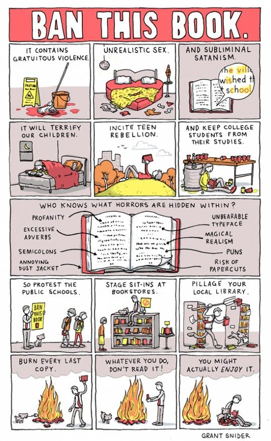 Ban this book Grant Snider #BannedBooksWeek