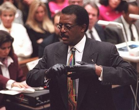 Johnnie Cochran - at work during the O.J. Simpson trial. One of the most famous defense attorneys in America.