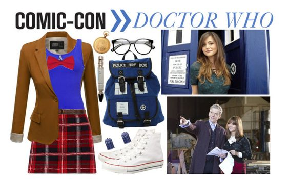 """COMIC CON WITH DOCTOR WHO"" by kirathelovergirl ❤ liked on Polyvore"