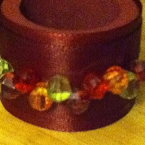 Beaded Napkin Ring-Front View