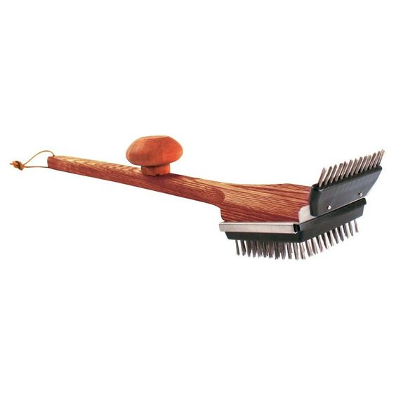 Grill Daddy wooden grill brush, Brown
