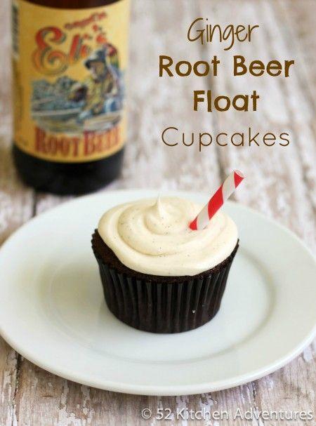 Award-Winning Ginger Root Beer Float Cupcakes