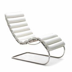 Mies van der Rohe MR Chaise White Volo Leather | Knoll
