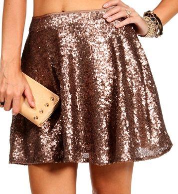 Bronze Sequin Skater Skirt... love this!! | Sparkle! | Pinterest ...