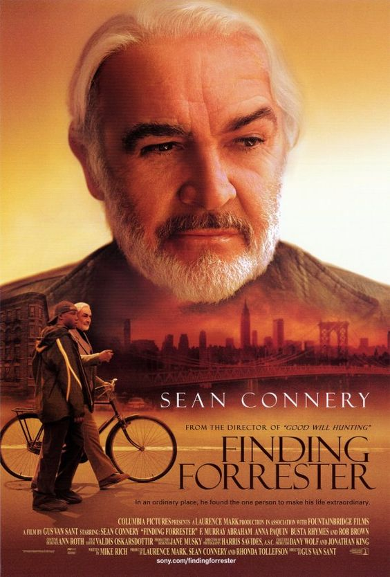 Finding Forrester , starring Sean Connery, Rob Brown, F. Murray Abraham, Anna Paquin. An afro-american teen writing prodigy finds a mentor in a reclusive author. #Drama