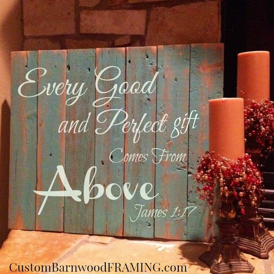 custom barnwood frames sign every good and perfect turq 2799 http