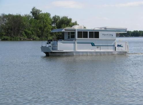 trailerable houseboat on the go   Trailerable Houseboat For Sale