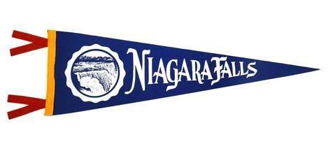 Niagara Falls Ny Pennant New York Oxford Pennant Original Pennant Niagara Falls Ny Felt Pennants