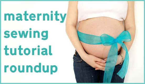 A list of tutorials about converting regular clothes to maternity clothes.