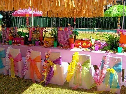 Ideas y cosas para tus fiestas infantiles fiesta hawaiana for A r salon hermosa beach