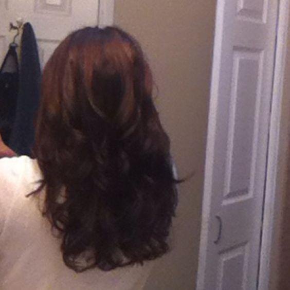 First attempt at sock bun curls = success!