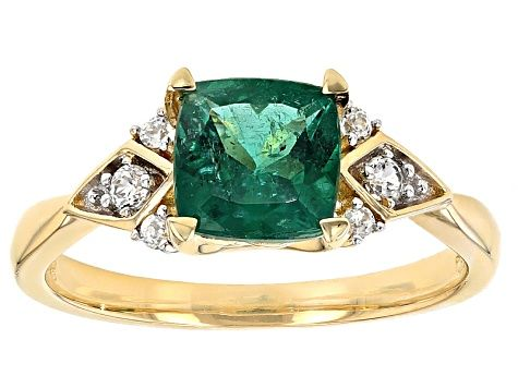 Enjoy Exceptional Value And Unbeatable Prices Explore This Green Emerald 10k Yellow Gold Ring 1 65ctw From Jtv Today