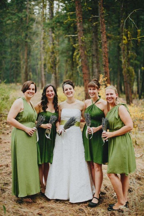 grüne brautjungfernkleider unterschiedlich designs
