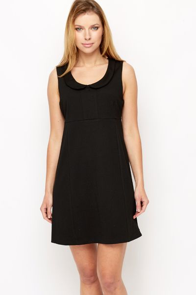 Collared Babydoll Shift Dress