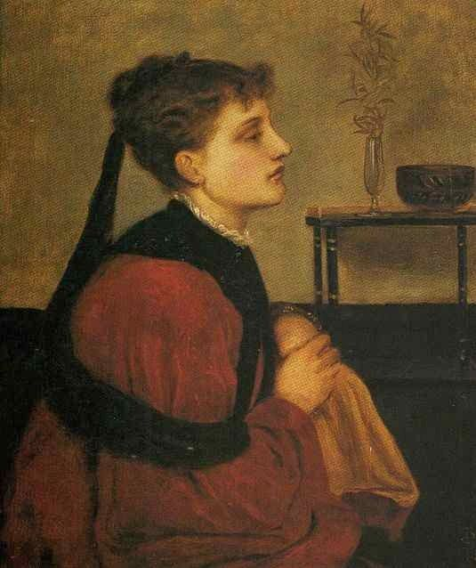 Simeon Solomon, English Pre-Raphaelite Painter, Marguerite (1866)