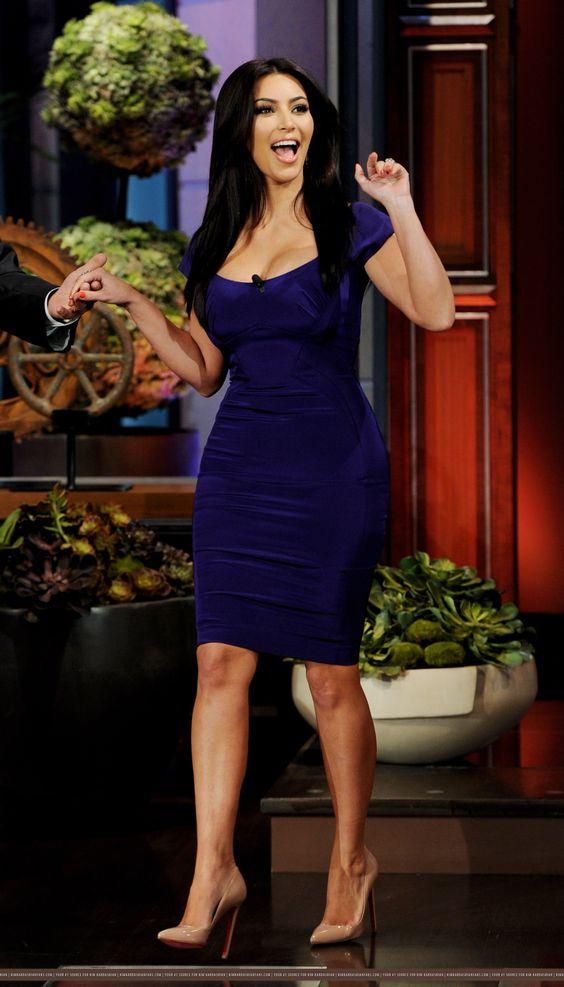 blue dress kim kardashian | Looks - Dresses - Day - Blue ...