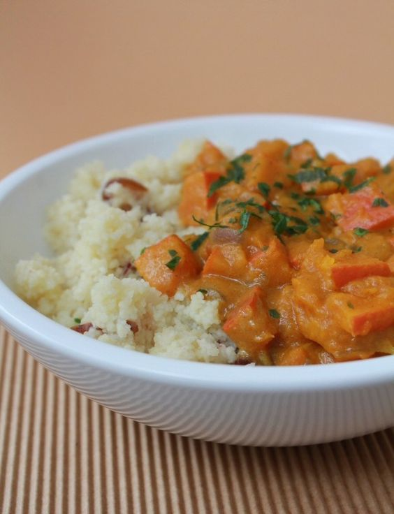 date couscous with squash curry