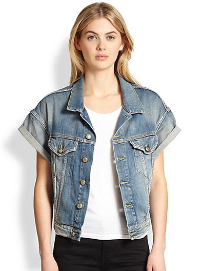 R13 - Short Dolman-Sleeved Denim Jacket - Saks.com | Wish List ...