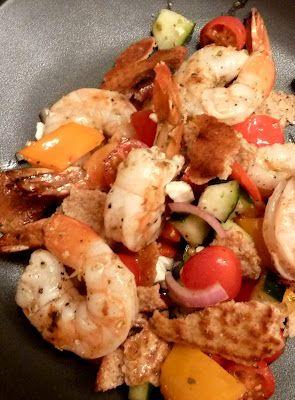 Grilled Shrimp Greek Salad -  it's grilling season!