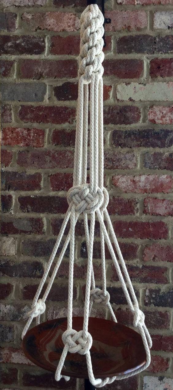 Macrame plant hanger- www.facebook.com/lornaandlila: